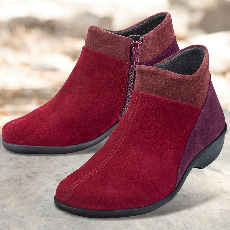 LadySko MICHA rouge (cuir velours)