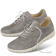 Chaussure confort Helvesko : LUCY, gris (cuir velours)