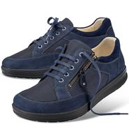 Chaussure confort Helvesko : BENNO, bleu (cuir nubuck/textile)