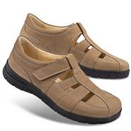 Chaussure confort Helvesko : PAULO, terre (cuir nubuck)