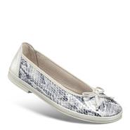 Chaussure confort Helvesko : AIDA, gris (décor python)