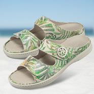 Chaussure confort Helvesko : MALTA, vert multi