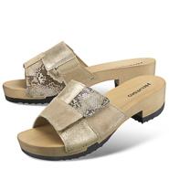 Chaussure confort Helvesko : JESSIKA, beige/bronze