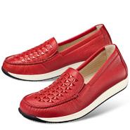 Chaussure confort Helvesko : CORY, rouge