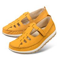Chaussure confort Helvesko : ISOBEL, safran (cuir nubuck)