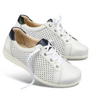 Chaussure confort Helvesko : WILKE, blanc/bleu foncé