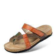 Chaussure confort Helvesko : BEJA, orange/marron