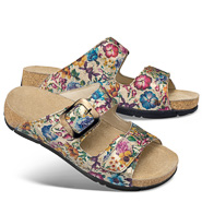 Chaussure confort Helvesko : MAFRA, argent multi