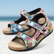 Chaussure confort Helvesko : BRAGA, blanc multi
